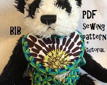 Instant Download Doll Bib and Diaper PDF Pattern: Doll Bib and Diaper Sewing Pattern Combo.3 Bibs Sizes, 2 Diaper Sizes & Tuorials