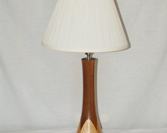 Hand Turned Wood Lamp