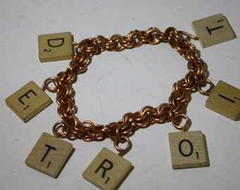 "Hand Made OOAK For the Loyal ""DEEETROIT"" Artist and or Supporter - DETROIT Bracelet - Detroit Love"
