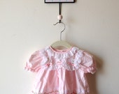 Pink Baby Dress with Lace & Ruffles by Alexis...size 3 Months
