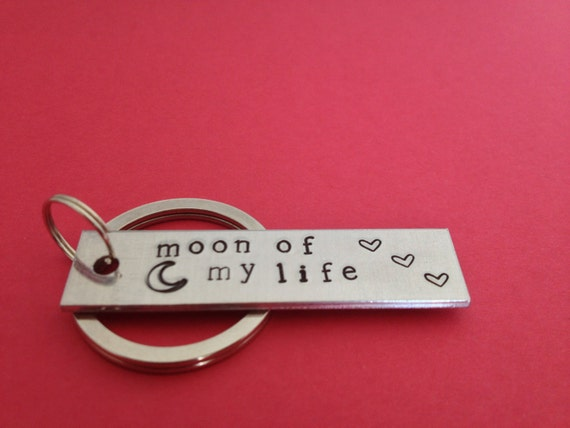 Moon Of My Life Keychain Game Of Thrones Inspired Hand Stamped  Aluminum Key Chain