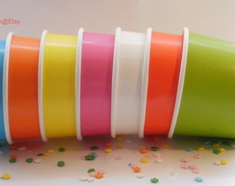 100 Ice Cream Cups - Your Choice of Color - Large 16 oz