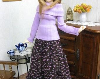 Kawkana - Blouse and long skirt for MSD, MNF, JID other 1/4 bjd