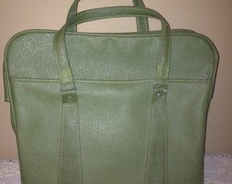 Vintage Olive Green Carry On Bag