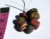 Rustic Ceramic Bead Set