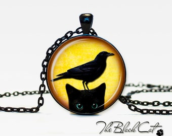 Halloween jewelry Black cat Pendant Black cat necklace Black cat jewelry