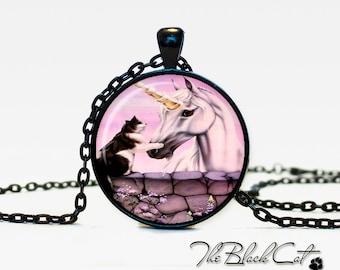 Unicorn pendant Unicorn necklace Unicorn jewelry fantasy style art gift (PU0012)