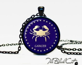 Cancer Necklace, Zodiac Sign Pendant, Constellation Jewelry
