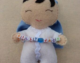 "Handmade Felt Baby Doll ""Quinn"""