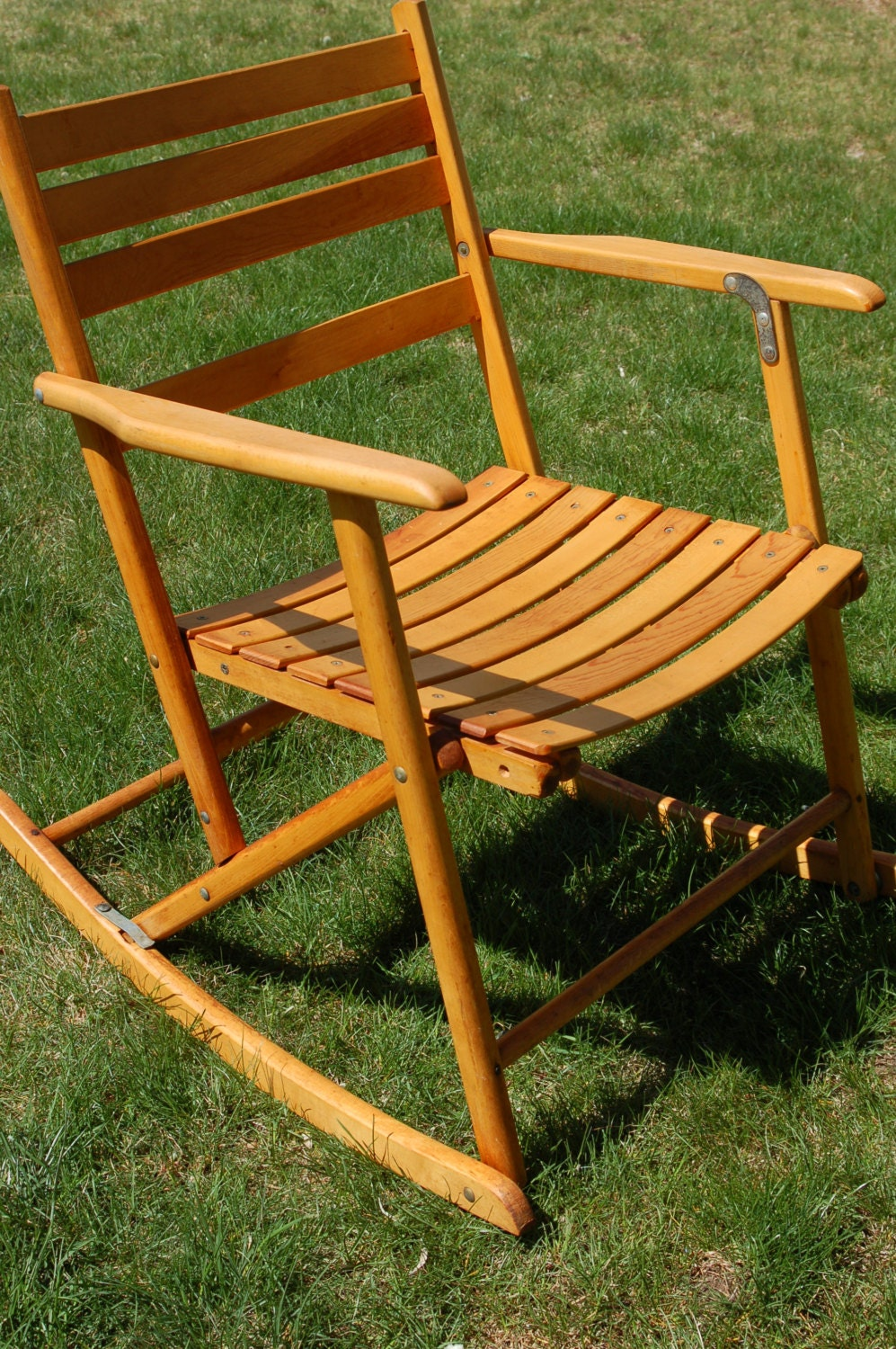 portable wooden rocking chair antique telescope folding maple