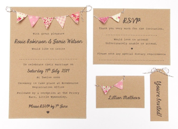 Unique Wedding Invitation Wording: Rustic Wedding Invitation. Unique Rustic By FromLeoniWithLove