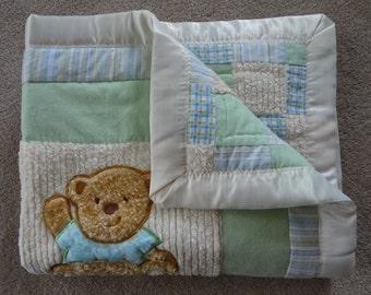 3D BabyPatchwork Quilt Teddy Bears
