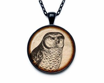Owl pendant Owl necklace Owl jewelry nature necklace