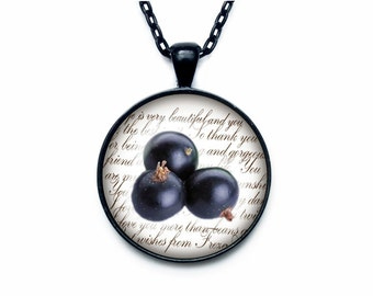 Blackberry necklace Blackberry necklace pendant Blackberry jewelry fruit necklace