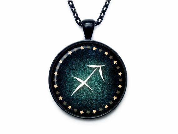 sagittarius necklace sagittarius pendant sagittarius jewelry