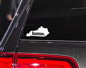 Kentucky Home. Decal Car or Laptop Sticker