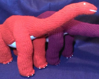 Brontosaurus Dinosaur Knit Toy PATTERN - Instant Download