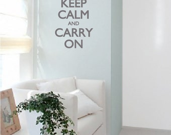 "Keep calm and carry on decal/ Keep Calm sticker 10""x18"""