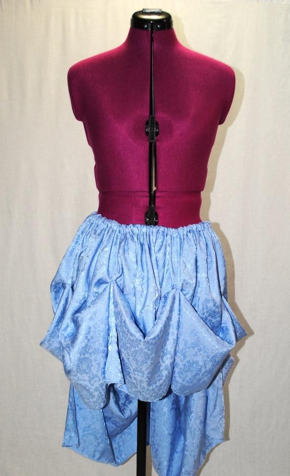 sale baby blue steunk high low bustle skirt