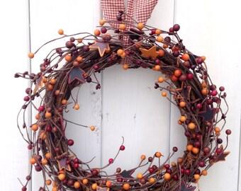 """SALE! Rustic Wreath 13"""""""