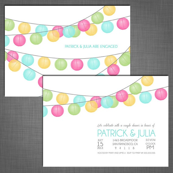 Colorful Party Invitations Colorful Paper Lanterns Party