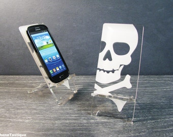 Cell Phone Dock for Samsung Galaxy S5 S4 S3 Android Phone Stand Docking Station Acylic Skull