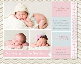 Mini Session - Photography Marketing Template - Marketing Board 009 - C028, INSTANT DOWNLOAD