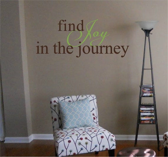 Find joy in the journey removable vinyl wall art decal home decor