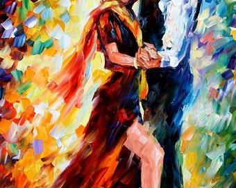 "Painting Of Tango Dancers Home Decor On Canvas By Leonid Afremov - Romantic Tango. Size: 24"" x 36"" (60cm x 90cm)"