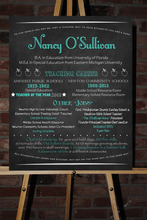 Items similar to Custom Retirement Board Poster Sign Gift on Etsy