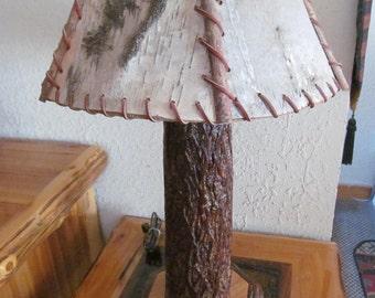 HICKORY LOG LAMP