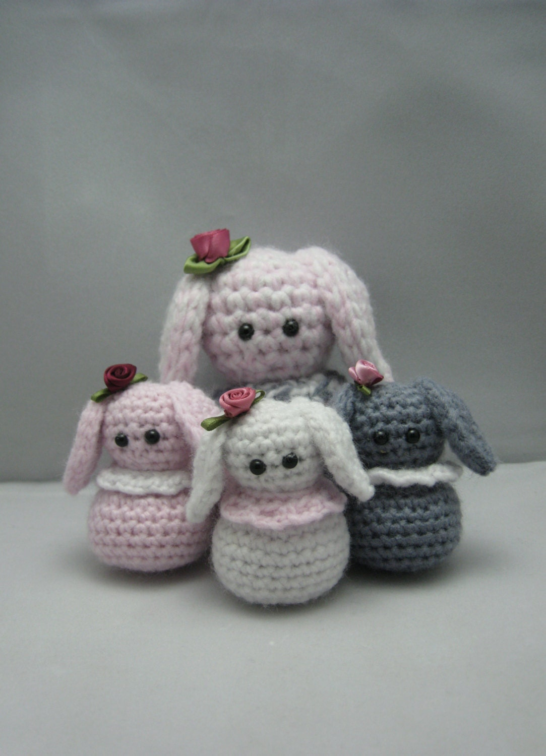 Little Bunnys FREE Amigurumi crochet pattern by NenneDesign