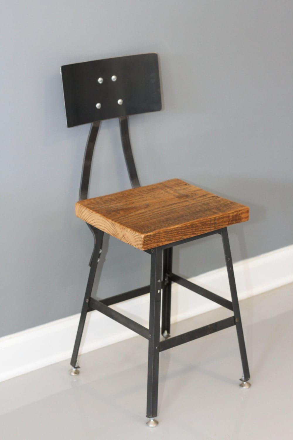 Shop Stool Chair Industrial Barstool With Back By Dendroco On Etsy
