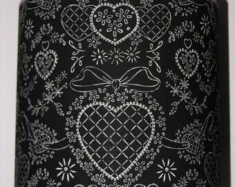 Blenheim Heart Black White Lamp Shade / Light Fitting / Lampshade