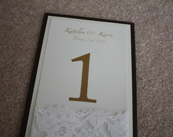 Sample- lace table number
