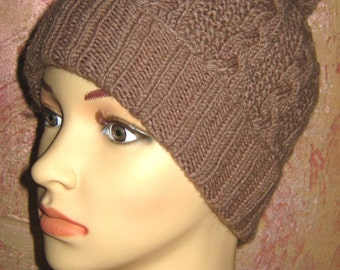 Warm knitted hat for women. Hat for teenager.