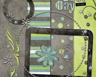 Best Day Ever  Digital Scrapbook Kit