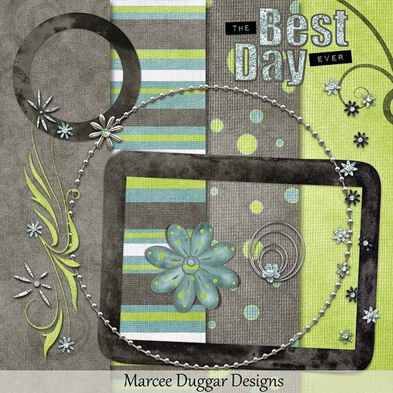 Best Day Ever  Digital Scrapbook Kit