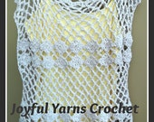 Trellis & Shells Tunic Top Crochet Pattern