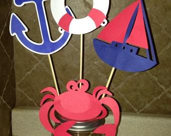 Nautical Theme Baby Shower Shapes - Nautical Theme Birthday Shapes