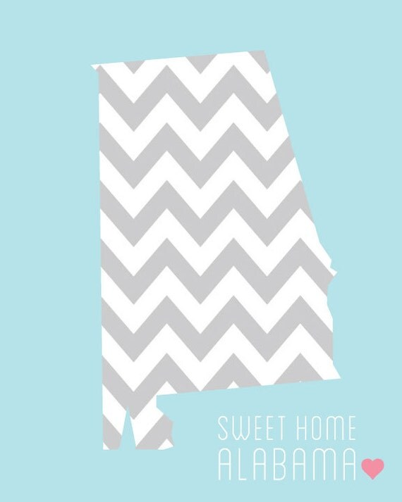 chevron alabama state 8x10 digital print by isewblessed on