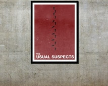Footprints - The Usual Suspects Inspired - Movie Art Poster