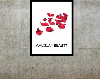 Rose Petals - American Beauty Inspired - Movie Art Poster