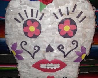 Flor Day of the Dead Sugar Skull Piñata - Dia de los Muertos - Halloween
