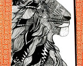 Lion Card, Greeting card, father's day card,