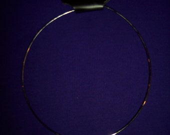 Necklace: Express with Black Silver Circular Pendent #109