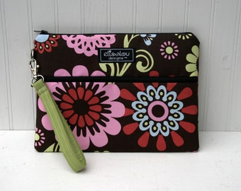 Kindle / iPad Mini / Nook / Sony /  eReader / Padded Pouch / Bag / Wristlet / Bloom
