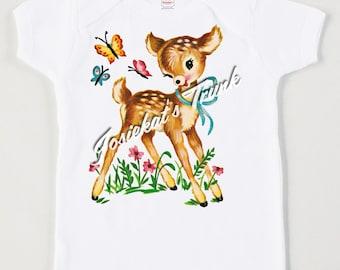 Baby Deer Tee Retro Custom Size Vintage Tshirt