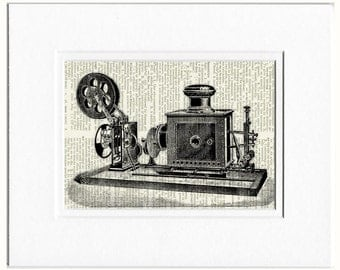 Movie Projector dictionary page print