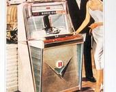 Jukebox Print - Rock-Ola Model Tempo I -  1988 Vintage Book Page